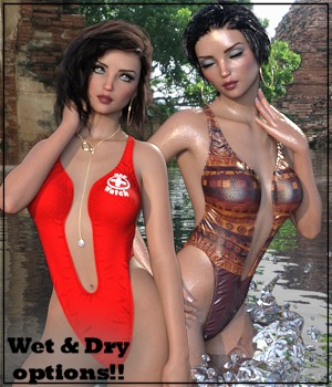 Sirens: X-Fashion Styling Bathsuit 3D Figure Assets 3-DArena
