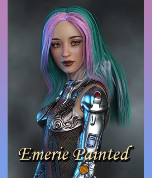 Emerie Painted 3D Figure Assets lwperkins