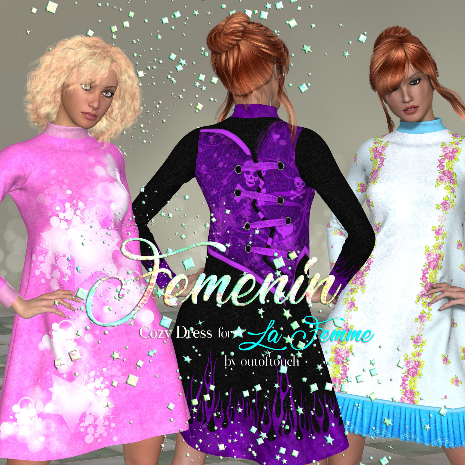 DA-Femenin for Cozy Dress for LaFemme by outoftouch
