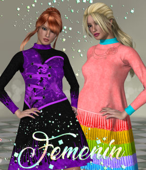 DA-Femenin for Cozy Dress for La Femme by outoftouch 3D Figure Assets La Femme Pro - Female Poser Figure DarkAngelGrafics