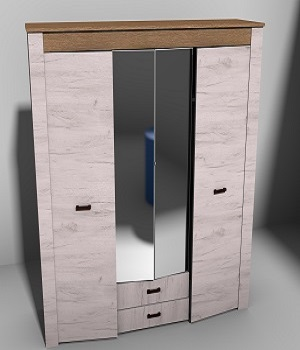 Modern wardrobe real world scale - Extended License 3D Game Models : OBJ : FBX 3D Models Extended Licenses VALKERU64BITS
