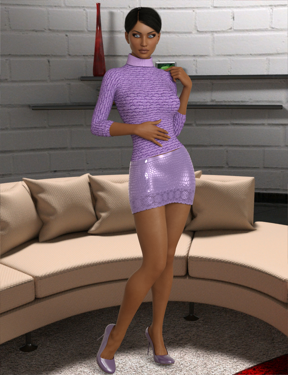 InStyle - Hot Sweater for Genesis 8 Females for dForce