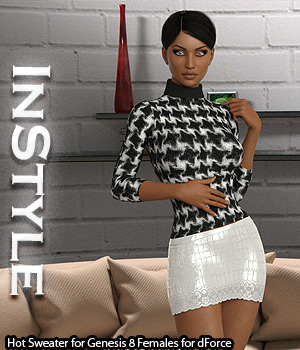 InStyle - Hot Sweater for Genesis 8 Females for dForce 3D Figure Assets -Valkyrie-