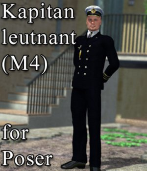 Kapitanleutnant M4 for Poser 3D Figure Assets VanishingPoint