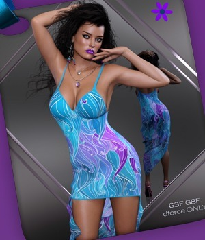 dforce only Simply Sexy Gown G3G8 3D Figure Assets nirvy