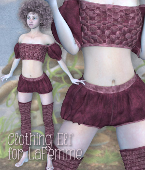 Clothing Elf for LaFemme 3D Figure Assets La Femme Female Poser Figure Tipol