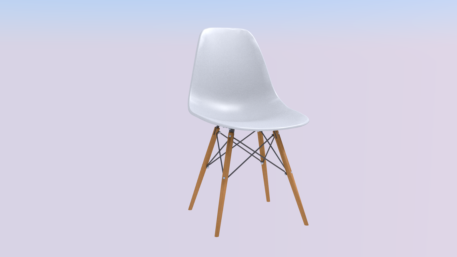 Modern chair real world scale - Extended License