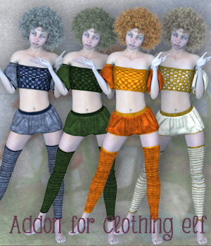 Addon for Clothing Elf 3D Figure Assets La Femme - LHomme Poser Figures Tipol
