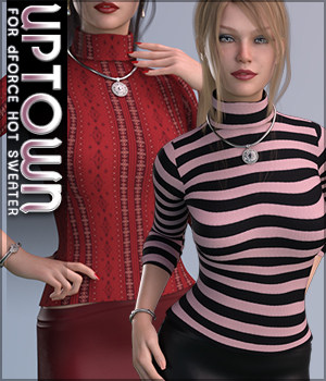 Uptown for dForce Hot Sweater 3D Figure Assets Sveva