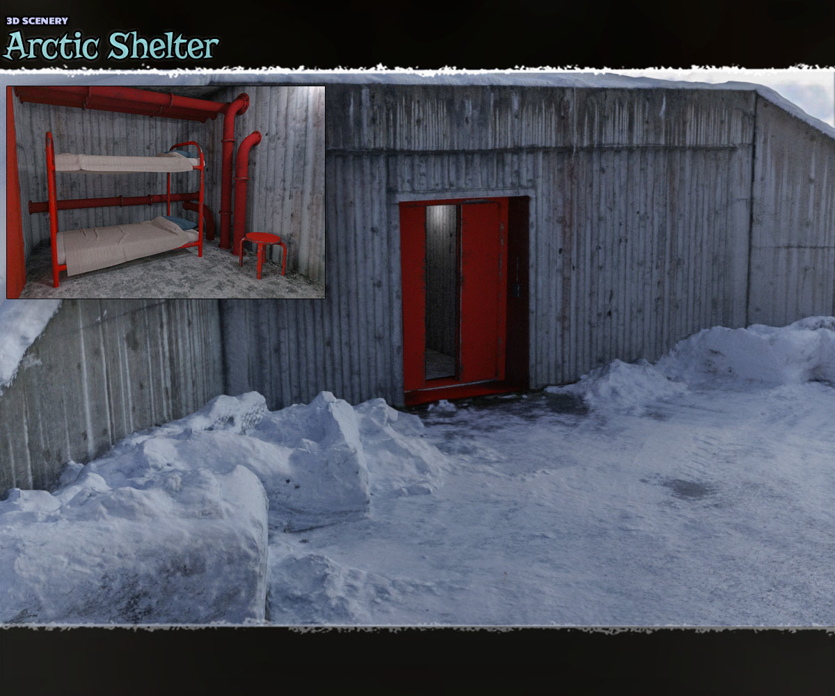 3D Scenery: Arctic Shelter - Extended License