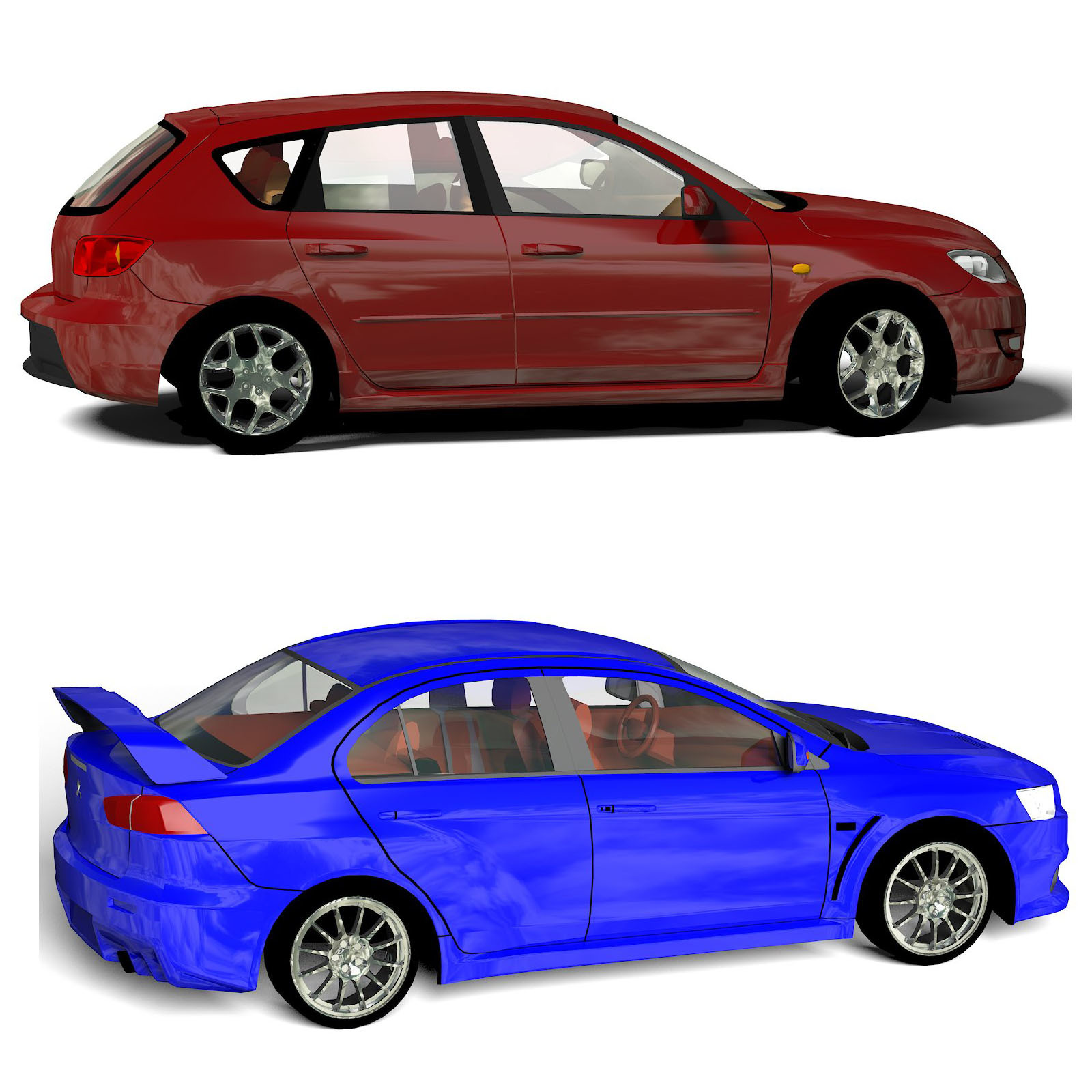 Budget Small Cars 3D Models Willyb53