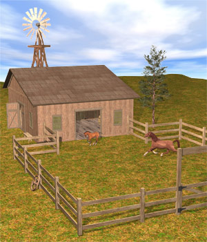 The Horse Barn Set 3D Models Richabri