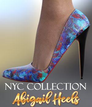 NYC Collection: Abigail Heels G8 3D Figure Assets 3DSublimeProductions