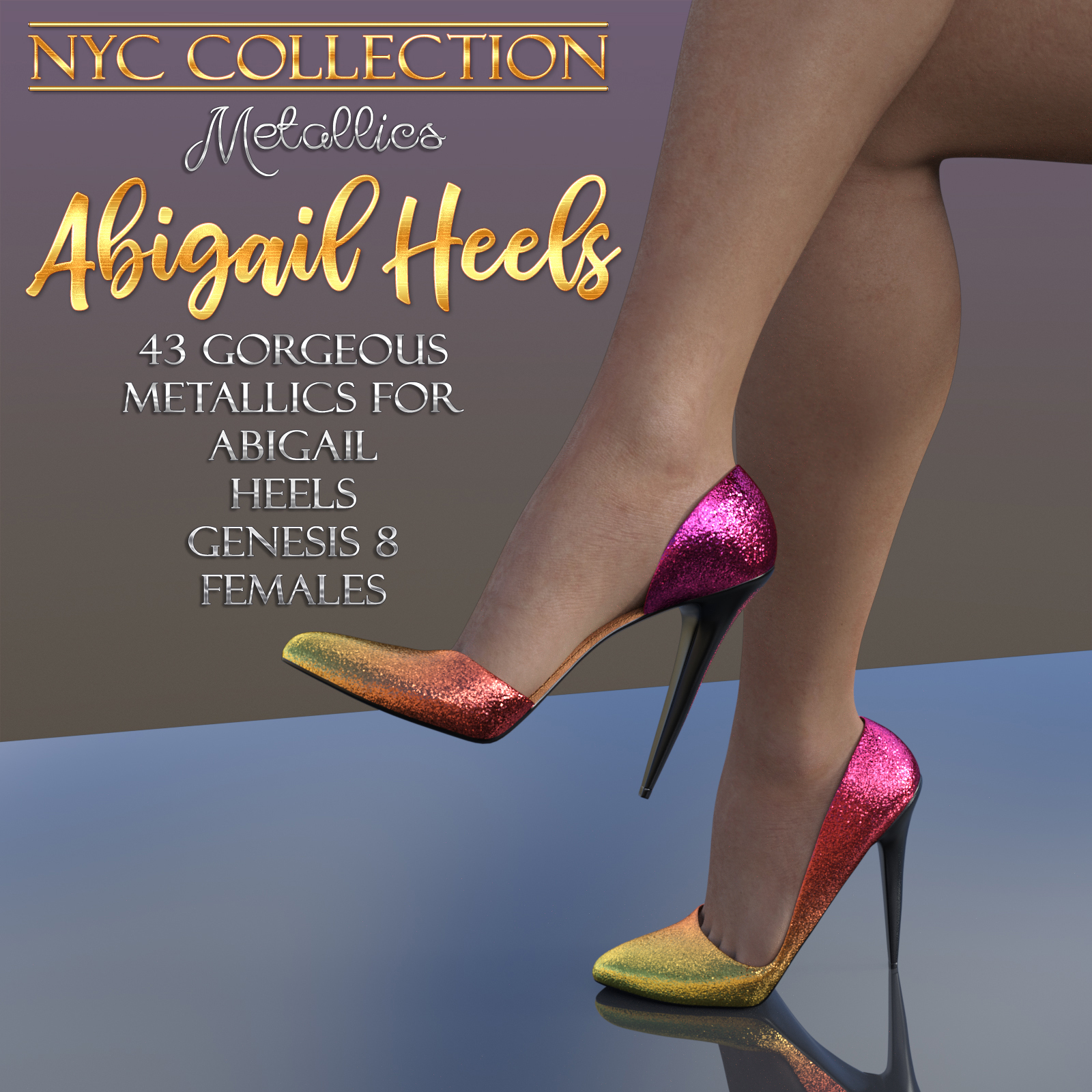 NYC Collection Metallics: Abigail Heels G8