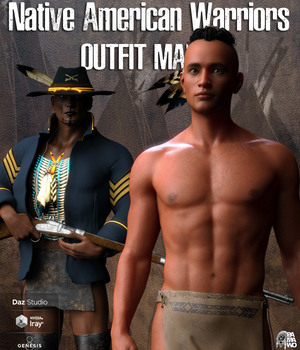 Native American Warrior Outfit for G8M 3D Figure Assets pamawo