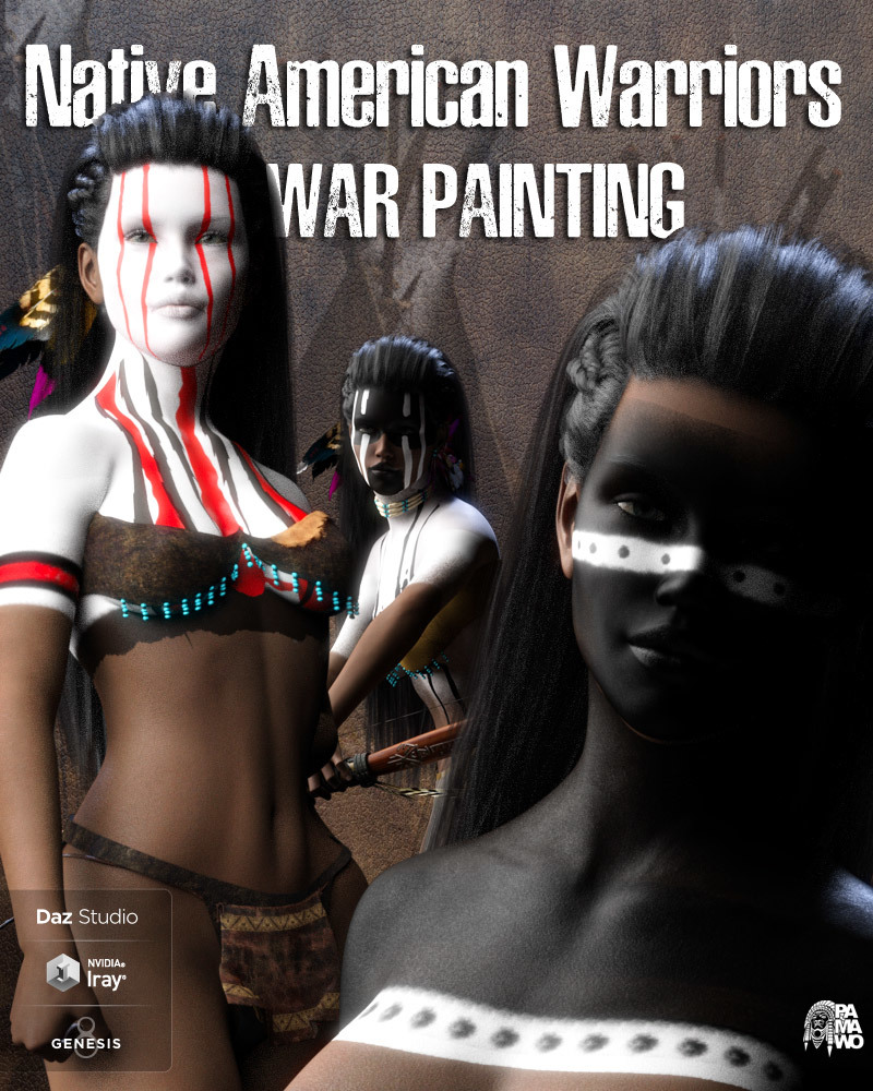 Native American Warrior War Paintings for G8F