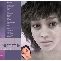 Biscuits Faces & Features for La Femme image 3