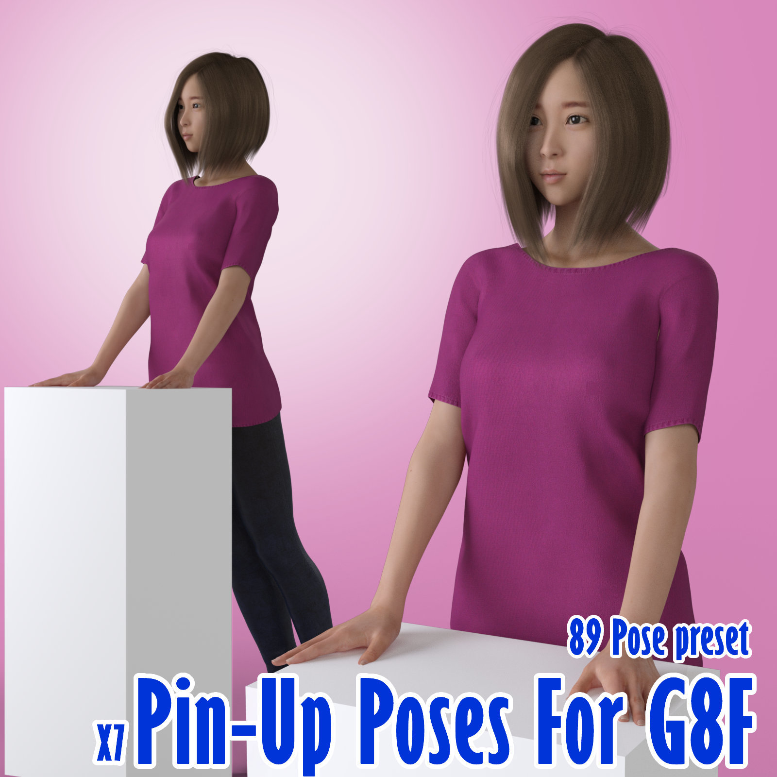 X7 Pin-Up Poses For G8F 2019