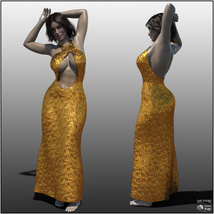 dForce Chic Couture Gown for Genesis 8 Females image 2