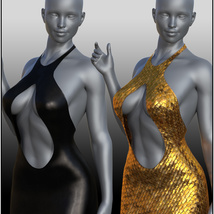 dForce Chic Couture Gown for Genesis 8 Females image 4