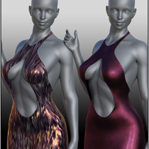 dForce Chic Couture Gown for Genesis 8 Females image 5