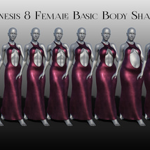 dForce Chic Couture Gown for Genesis 8 Females image 7