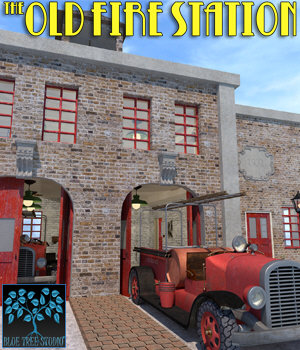 The Old Fire Station for Poser 3D Models BlueTreeStudio