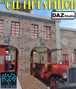 The Old Fire Station for Daz Studio 3D Models BlueTreeStudio
