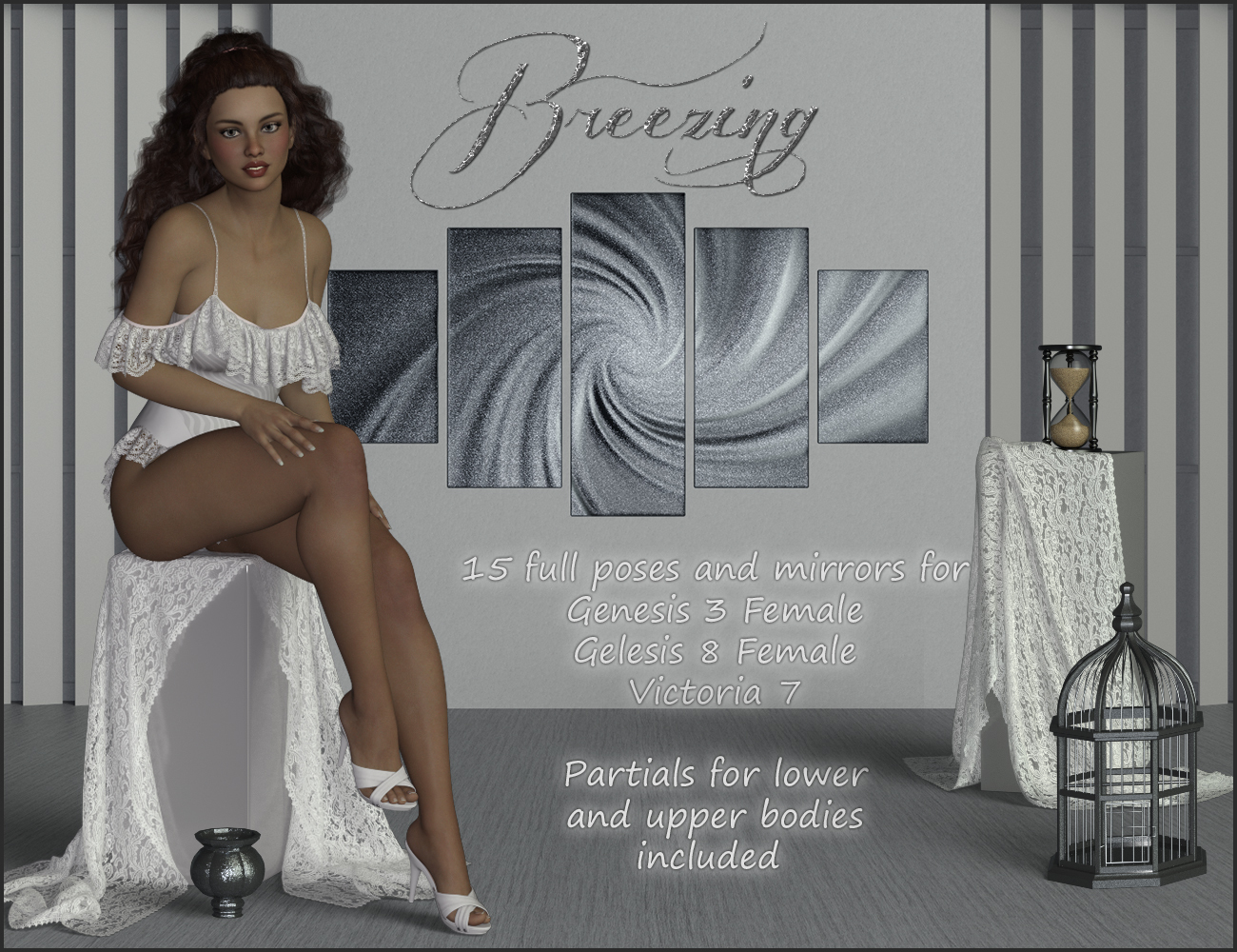 Breezing - Poses for G3F-V7-G8F by ilona