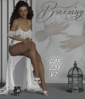 Breezing - Poses for G3F-V7-G8F 3D Figure Assets ilona