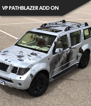 Add On for Pathblazer SUV by Vanishing Point 3D Figure Assets SF-Design
