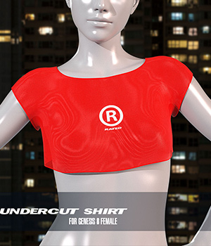 dForce Undercut Shirt for Genesis 8 Female 3D Figure Assets Imaginary3D