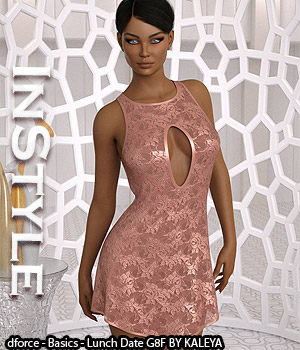 InStyle - dforce - Basics - Lunch Date G8F 3D Figure Assets -Valkyrie-