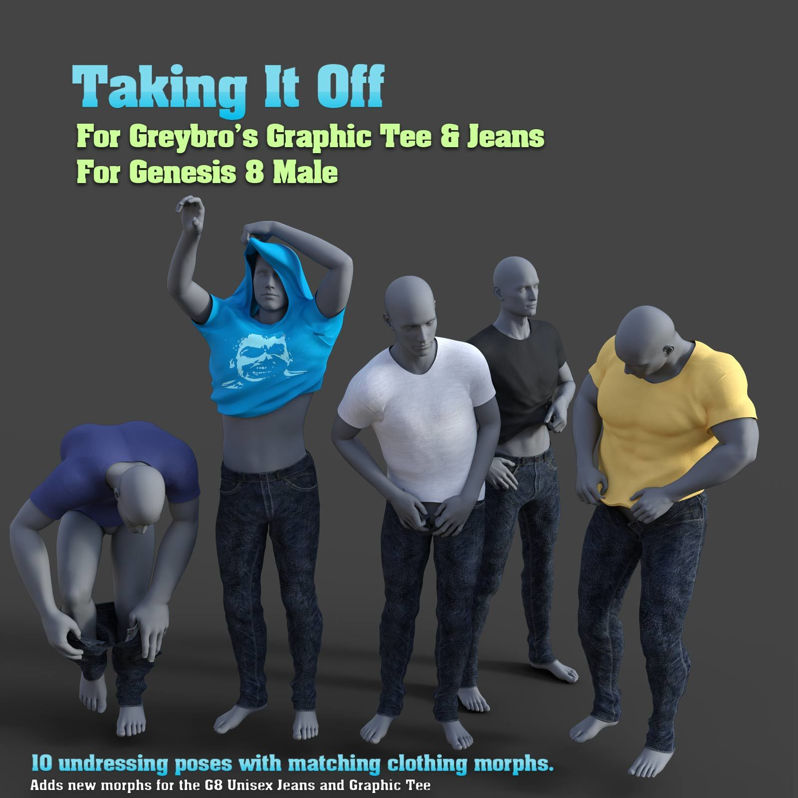 Taking It Off For Greybro's G8 Jeans and Tee Male Edition by Disciple3d