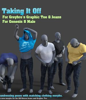 Taking It Off For Greybro's G8 Jeans and Tee Male Edition 3D Figure Assets Disciple3d