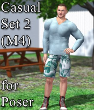 Casual Set 2 M4 for Poser 3D Figure Assets VanishingPoint