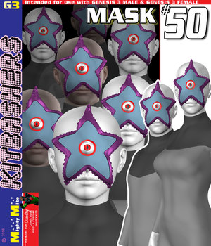 Mask 050 MMKBG3 3D Figure Assets MightyMite
