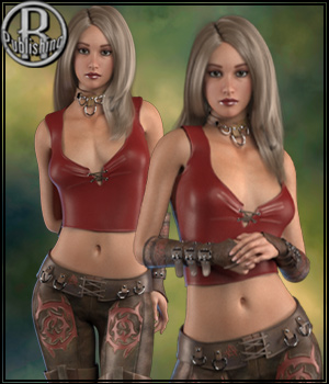 Anarchy for La Femme 3D Figure Assets La Femme Female Poser Figure RPublishing