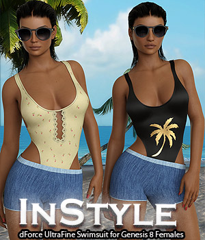 InStyle - dForce UltraFine Swimsuit for Genesis 8 Females 3D Figure Assets -Valkyrie-