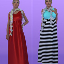 Dynamic High Waist Dress with Shawl La Femme and V4 image 6