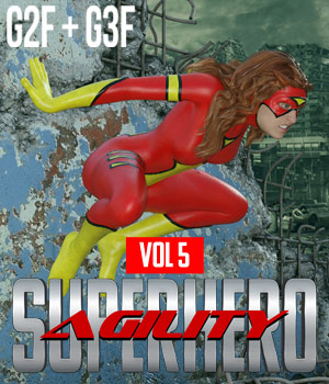 SuperHero Agility for G2F and G3F Volume 5 3D Figure Assets GriffinFX