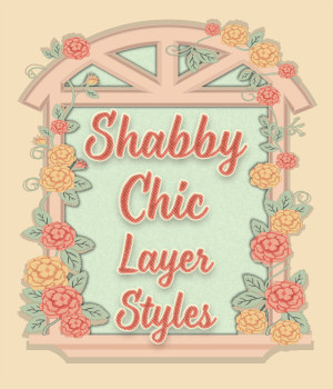 Shabby Chic PS Layer Styles 2D Graphics Merchant Resources fractalartist01