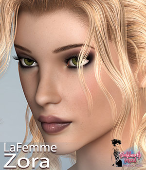 SublimelyVexed Zora for La Femme 3D Figure Assets La Femme Female Poser Figure 3DSublimeProductions