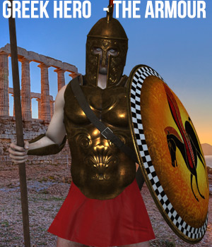 Greek Hero - The Armour 3D Figure Assets Cybertenko