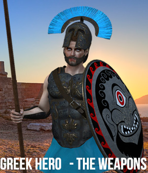 Greek Hero - The Weapons 3D Models Cybertenko