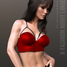 X-Fashion Night Lingerie for Genesis 8 Females image 3