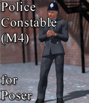 Police Constable M4 for Poser 3D Figure Assets VanishingPoint