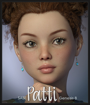 SASE Patti for Genesis 8 3D Figure Assets Sabby