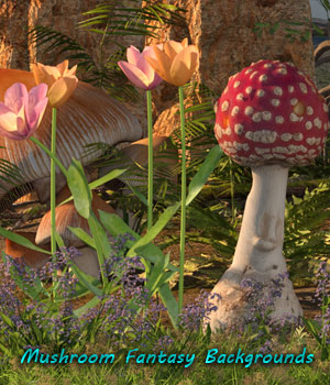 FB Mushroom Fantasy Backgrounds 2D Graphics fictionalbookshelf