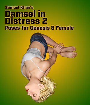 Samuel Khan's Damsel in Distress Poses 2 for G8F 3D Figure Assets SamuelKhan